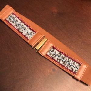Stretchy tribal patterned waist belt
